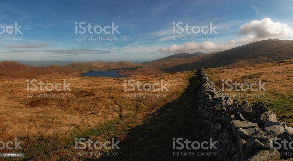 ...above the valley... stock photo