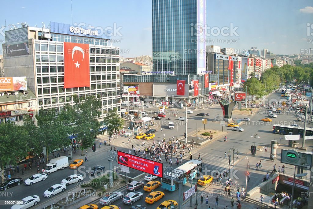 Above view from kizilay square - foto de stock
