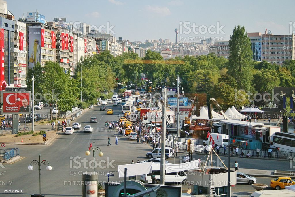 Above view from kizilay square stok fotoğrafı