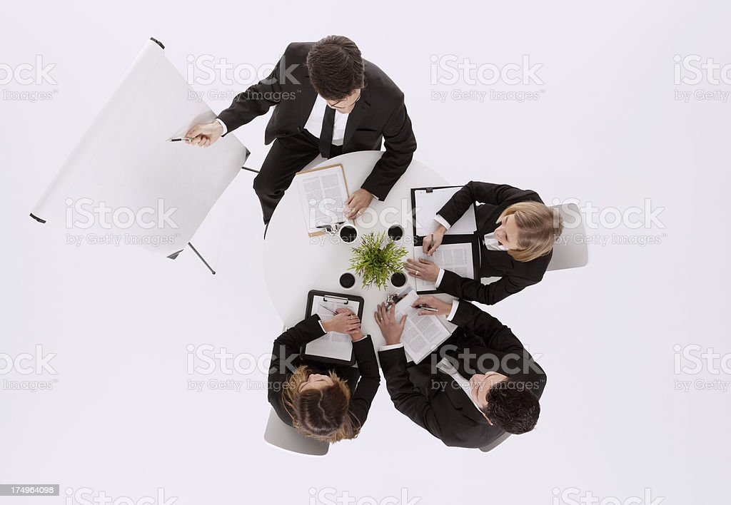 Above view of a business meeting royalty-free stock photo
