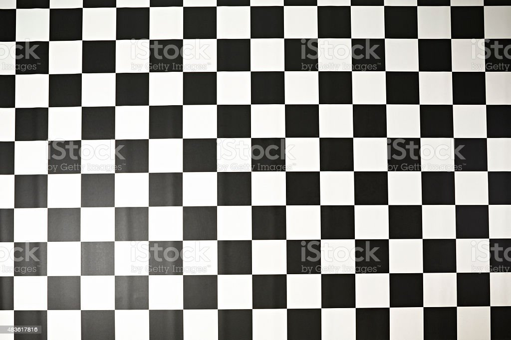 Above view of   black and white floor background  Checkered pattern stock photo