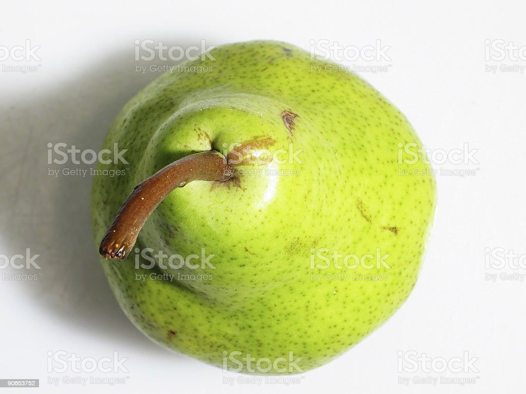 Above view of green pear royalty-free stock photo