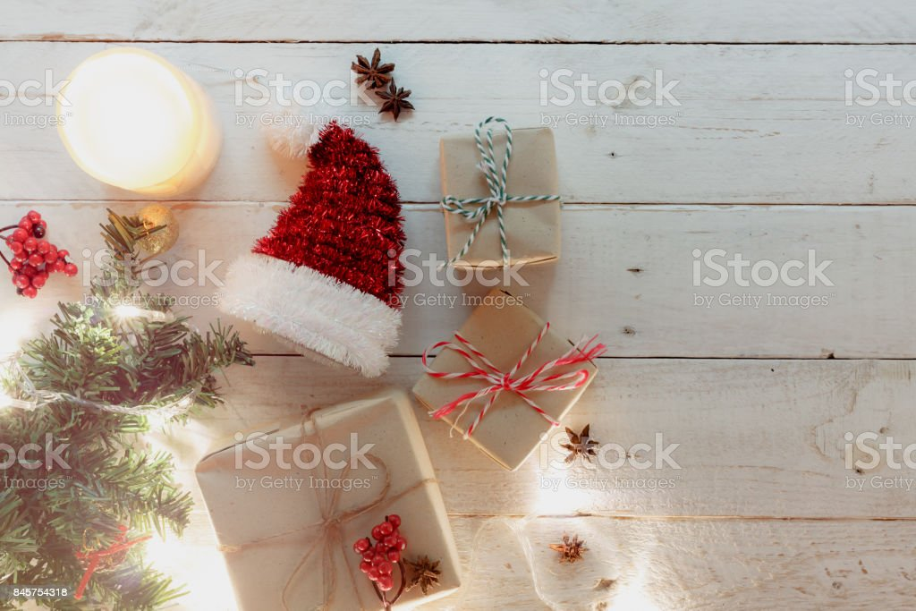 Above View Of Happy New Year And Christmas Festival Background