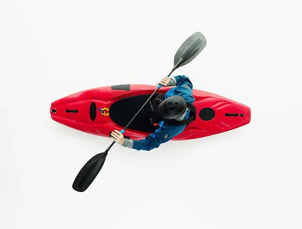 上から見る kayaker カヤック - 小型船舶 ストックフォトと画像