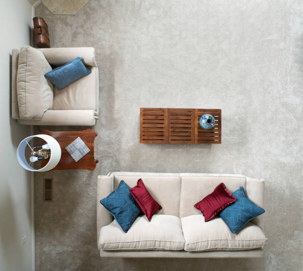 Above View of Living Room stock photo
