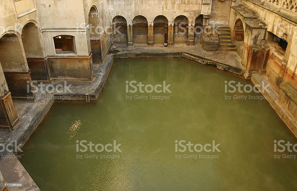 Above view of Roman Bath stock photo
