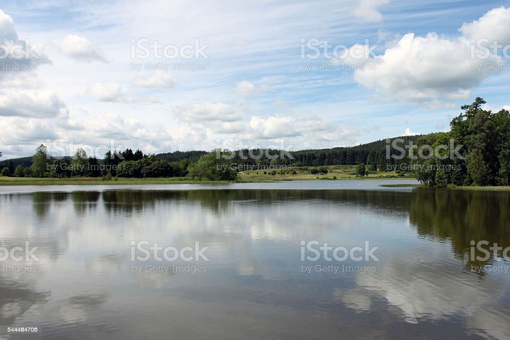 Aboyne Loch stock photo