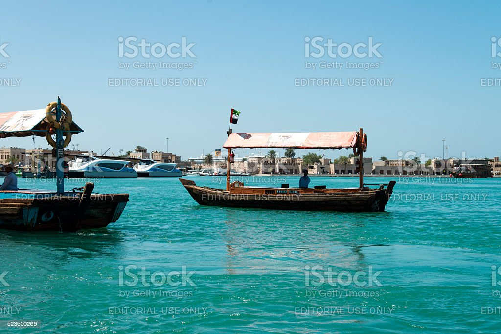 Abra Water Taxi in Dubai stock photo