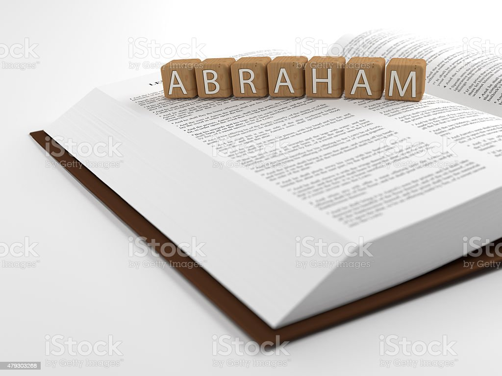 Abraham and the bible stock photo
