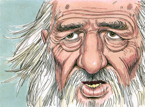 Abraham as Old Man stock photo