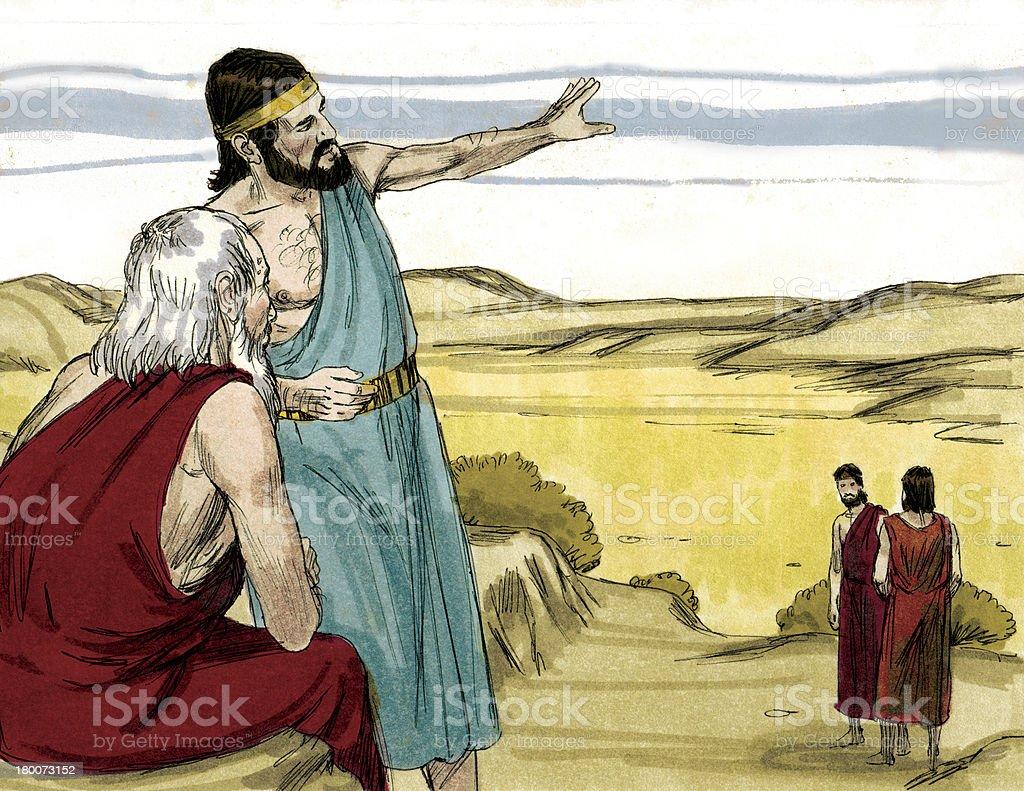 Abraham Discusses Sodom stock photo
