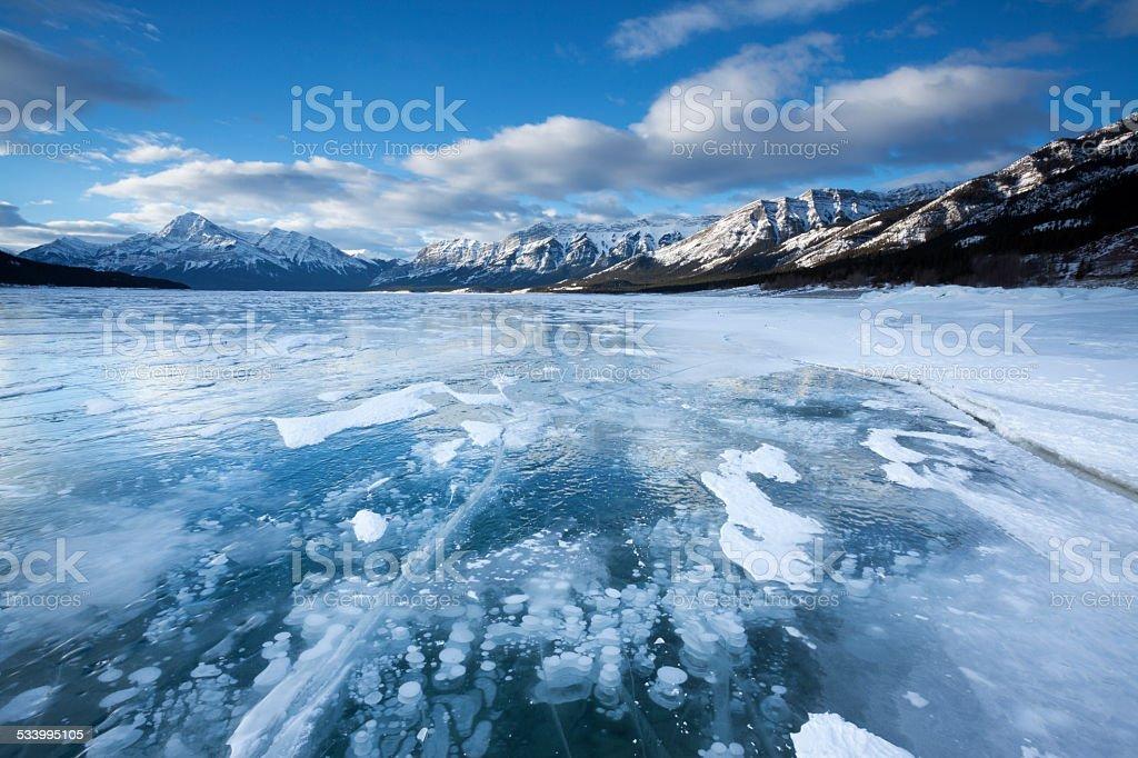 Abraham Lake Alberta Canada stock photo