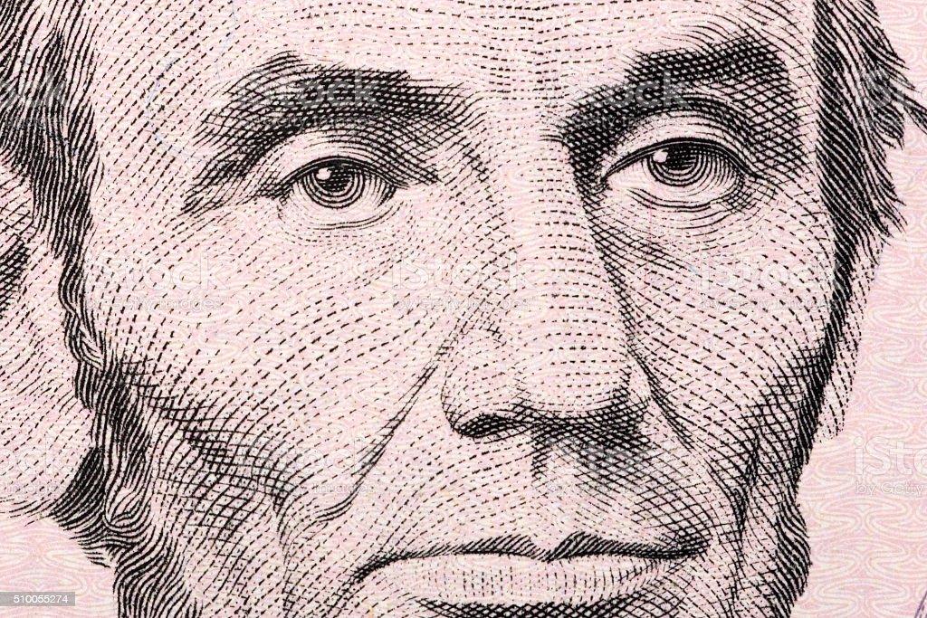 Abraham Lincoln a close-up portrait stock photo