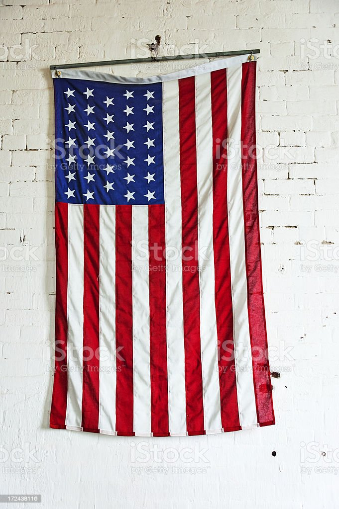 Abraham Lincoln  American Flag royalty-free stock photo