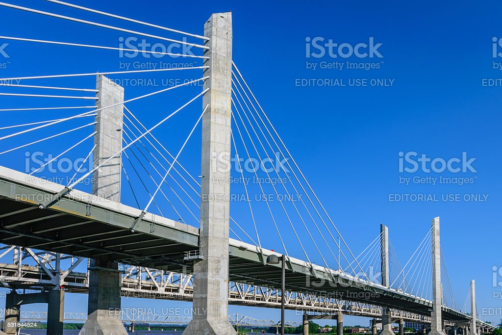 Abraham Lincoln Bridge stock photo