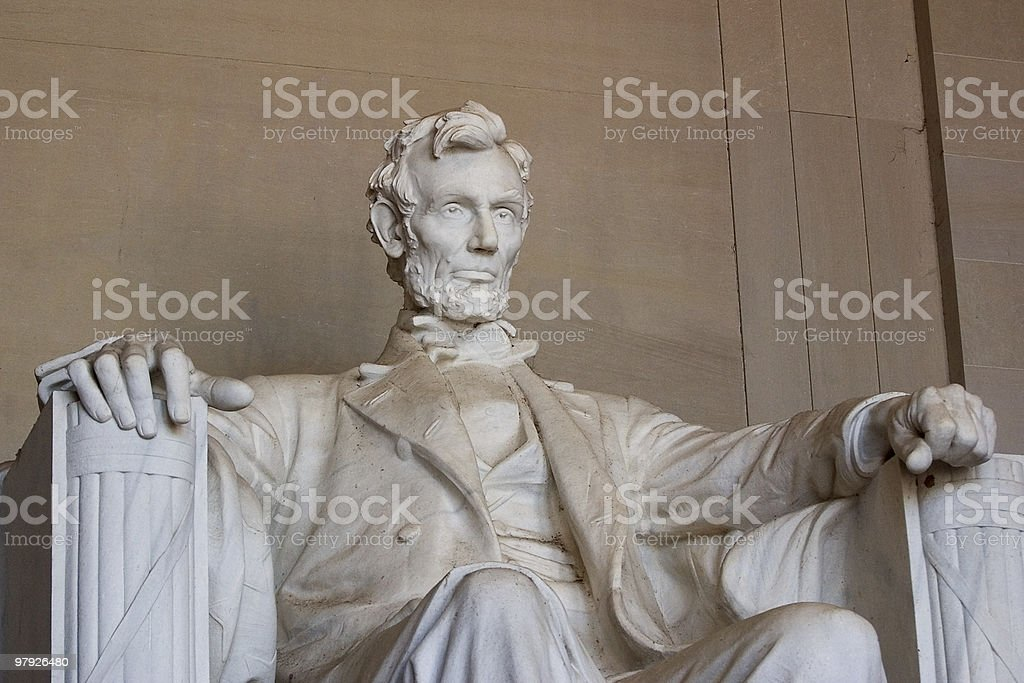 Abraham Lincoln, Close-up View stock photo