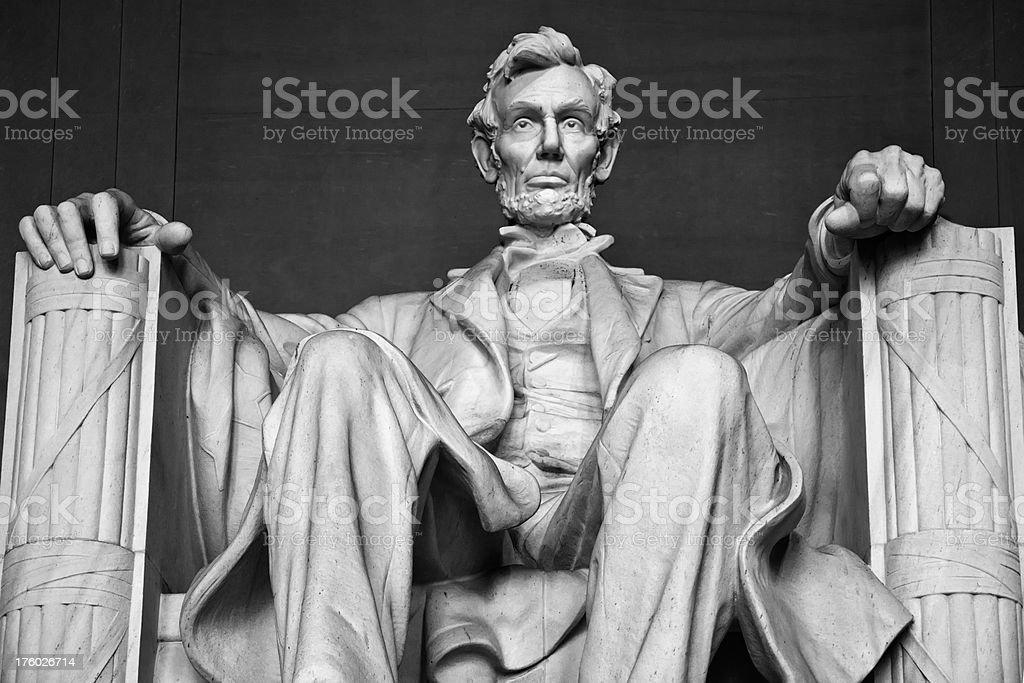 Abraham Lincoln in monochrome (XXXL) stock photo