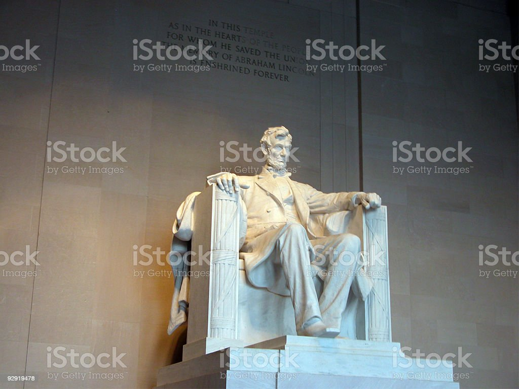 Abraham Lincoln Memorial - D.C. royalty-free stock photo