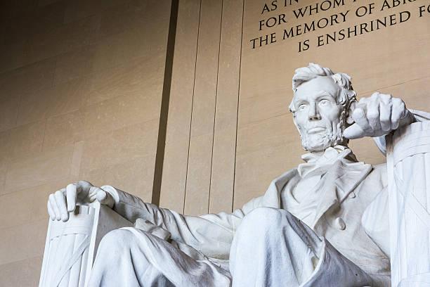 Abraham Lincoln Memorial Sitting Chair famous Landmark Closeup P – Foto
