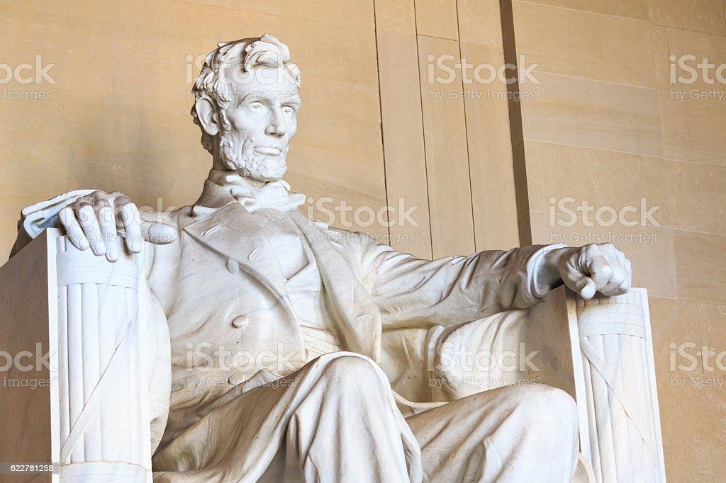 Abraham Lincoln monument in Washington stock photo