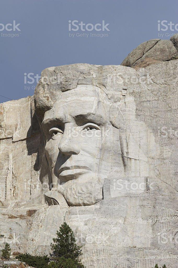 Abraham Lincoln - mount rushmore national memorial royalty free stockfoto