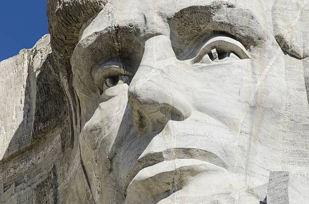 abraham lincoln, mount rushmore national monument - presidents day - fotografias e filmes do acervo