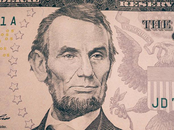 Abraham Lincoln portrait cutout stock photo