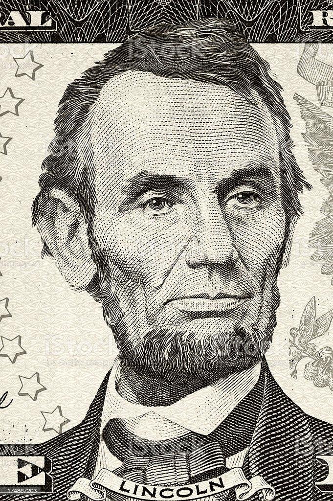 Abraham Lincoln portrait stock photo