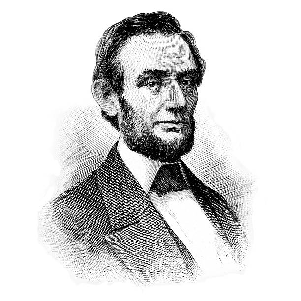 Retrato de Abraham Lincoln - foto de stock