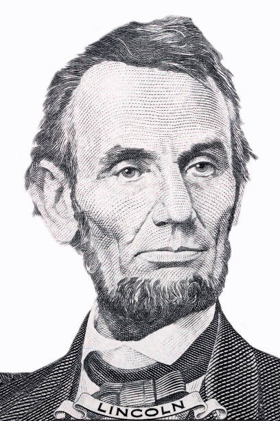 Abraham Lincoln, retrato - foto de stock