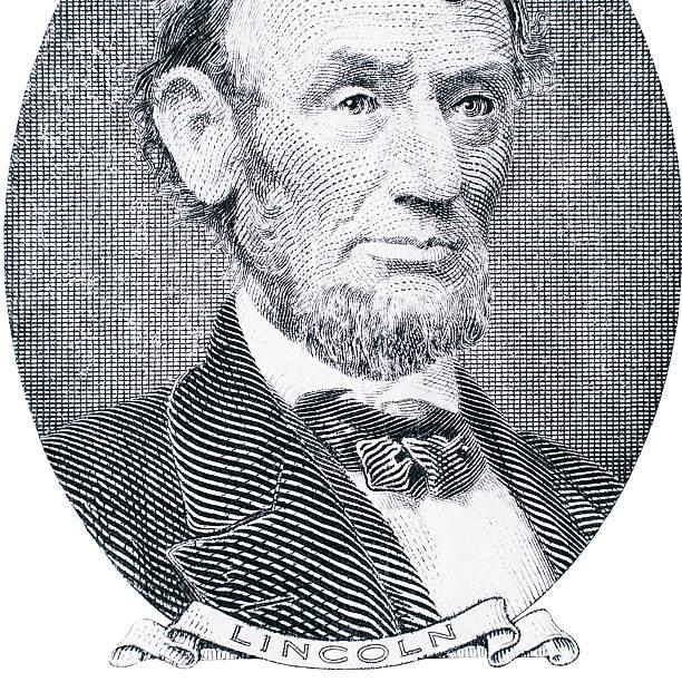 Abraham Lincoln portrait. US money stock photo
