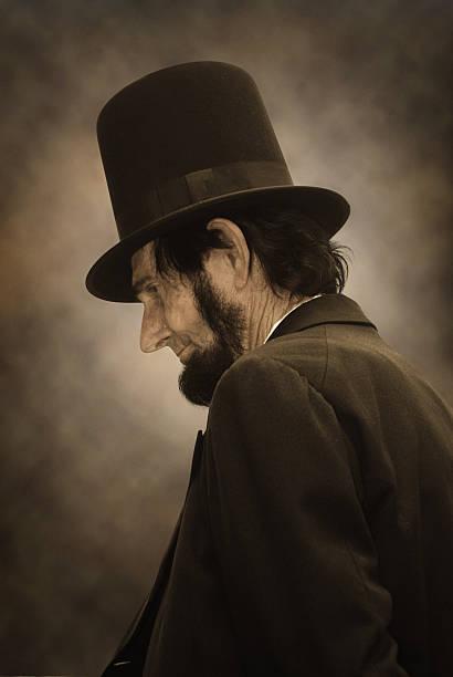 Abraham Lincoln Profile stock photo