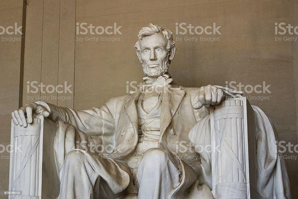 Abraham Lincoln Statue, Medium View royalty-free stock photo