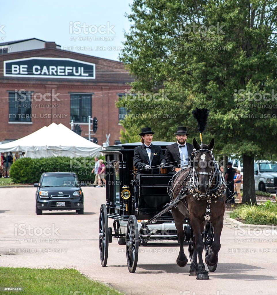 Abraham Lincolns Funeral Carriage Front View Stock Photo More
