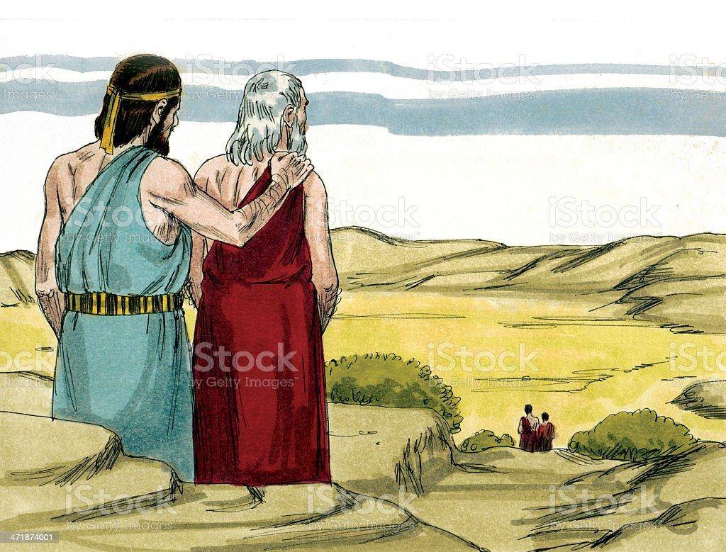Abraham Ponders Sodom stock photo