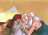 istock Abraham, Sarah, and Baby Isaac 483320631