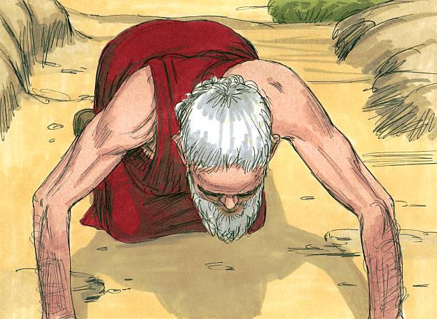 Abraham Seeks God stock photo