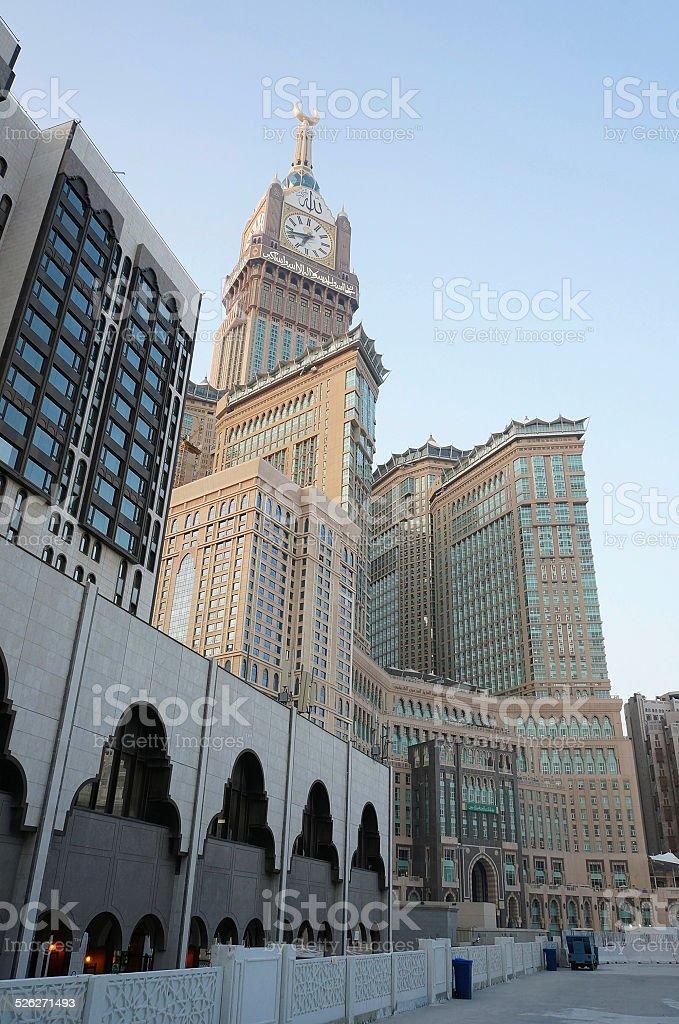 Abraj Al Bait (Royal Clock Tower Makkah) stock photo