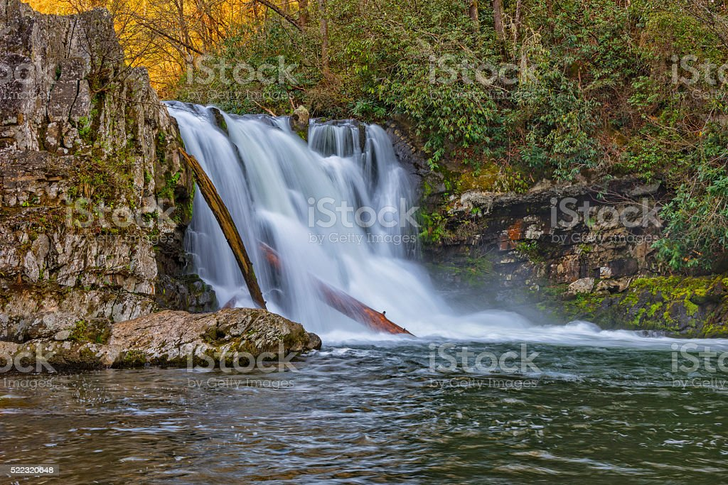 Abrams Falls At Cades Cove stock photo