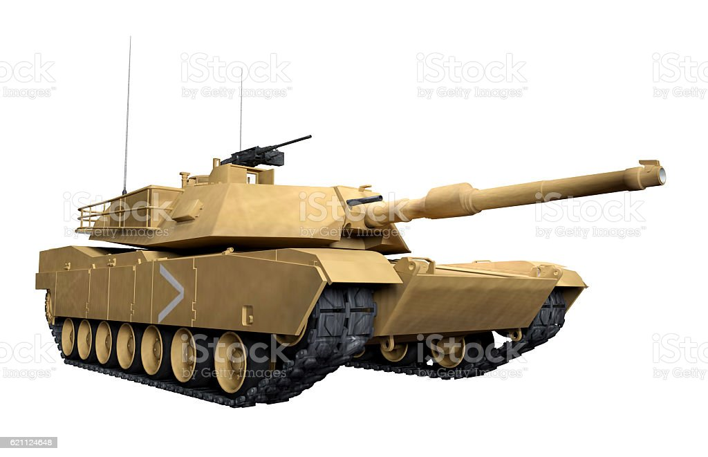 M1 Abrams war Tank stock photo
