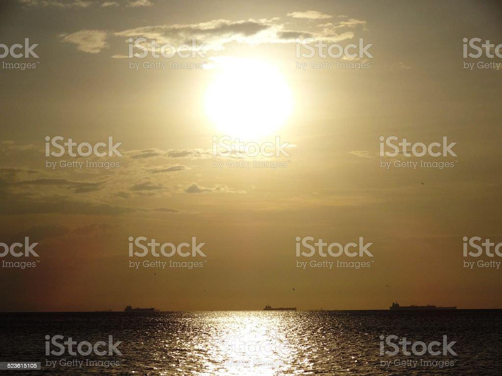 abrazo de sol stock photo