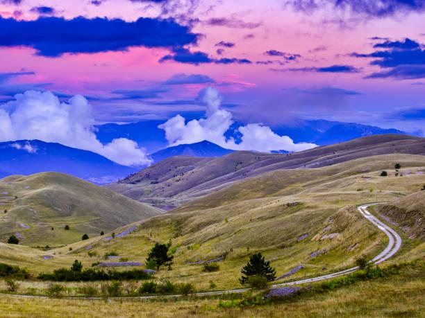 Zona de Abruzzo de Italia - foto de stock
