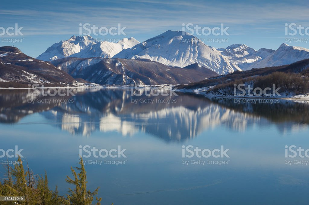 Abruzzo region in Winter stock photo