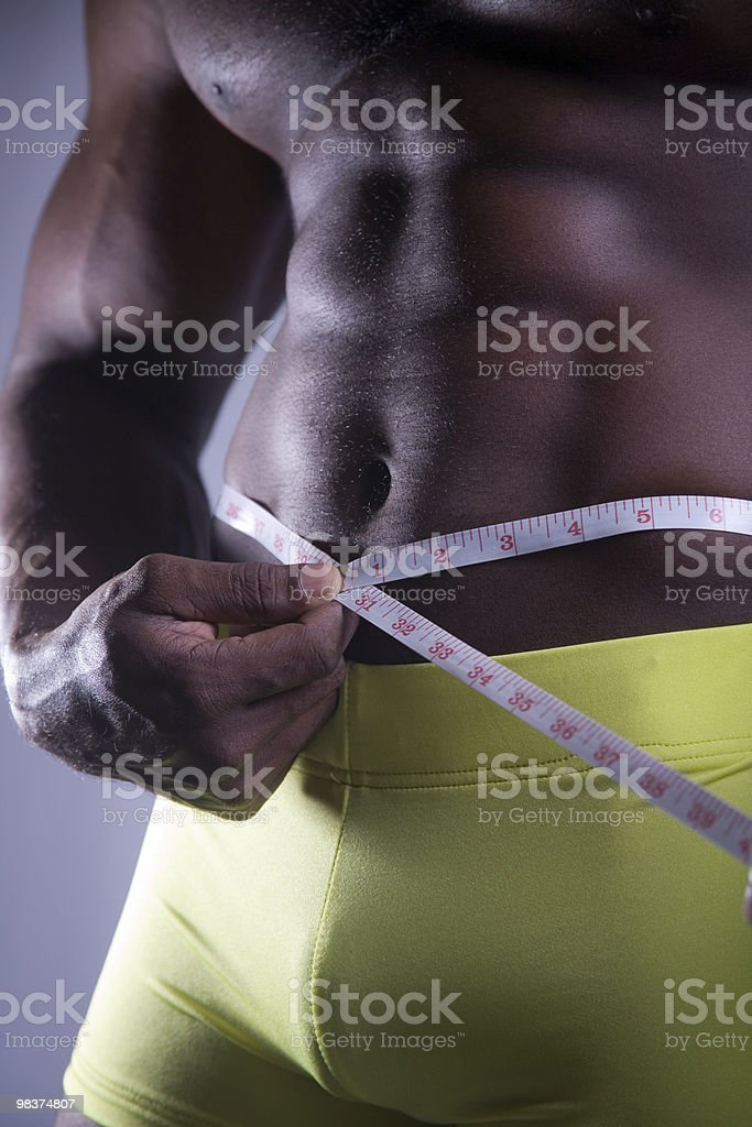 abs and waist measurement royalty-free stock photo