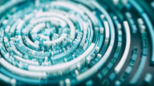 Abs block shape Data visual stock photo