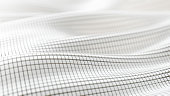 Abs flow grid pattern bg - 3d rendered image of abstract background. Flow landscaped grid pattern. White color. Technology block concept.
