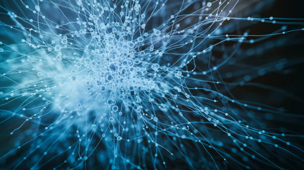 Abs neurons hologram view stock photo