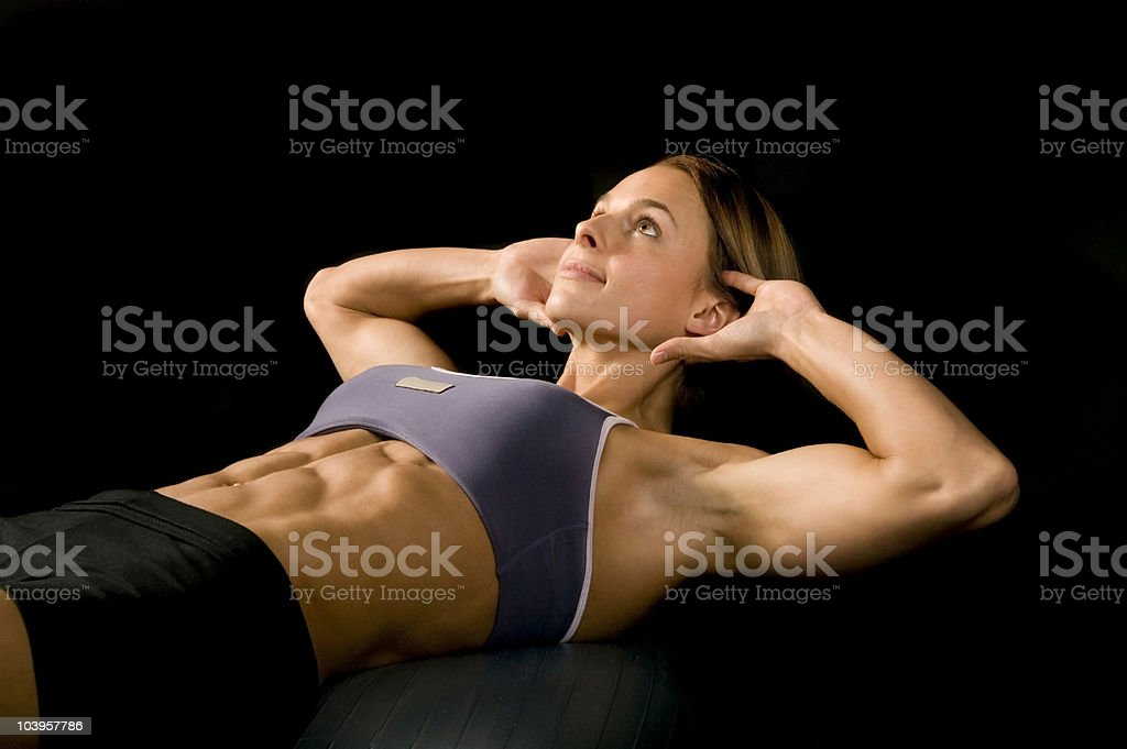 abs / sittups royalty-free stock photo