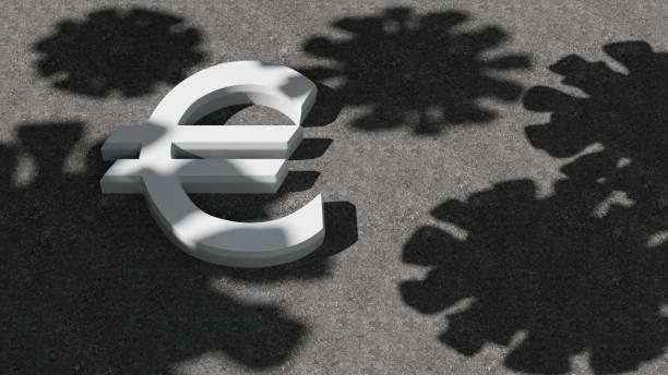 Abs virus and finance euro symbol stock photo