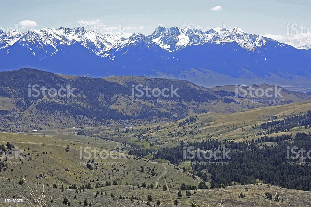 Absaroka Peaks stock photo